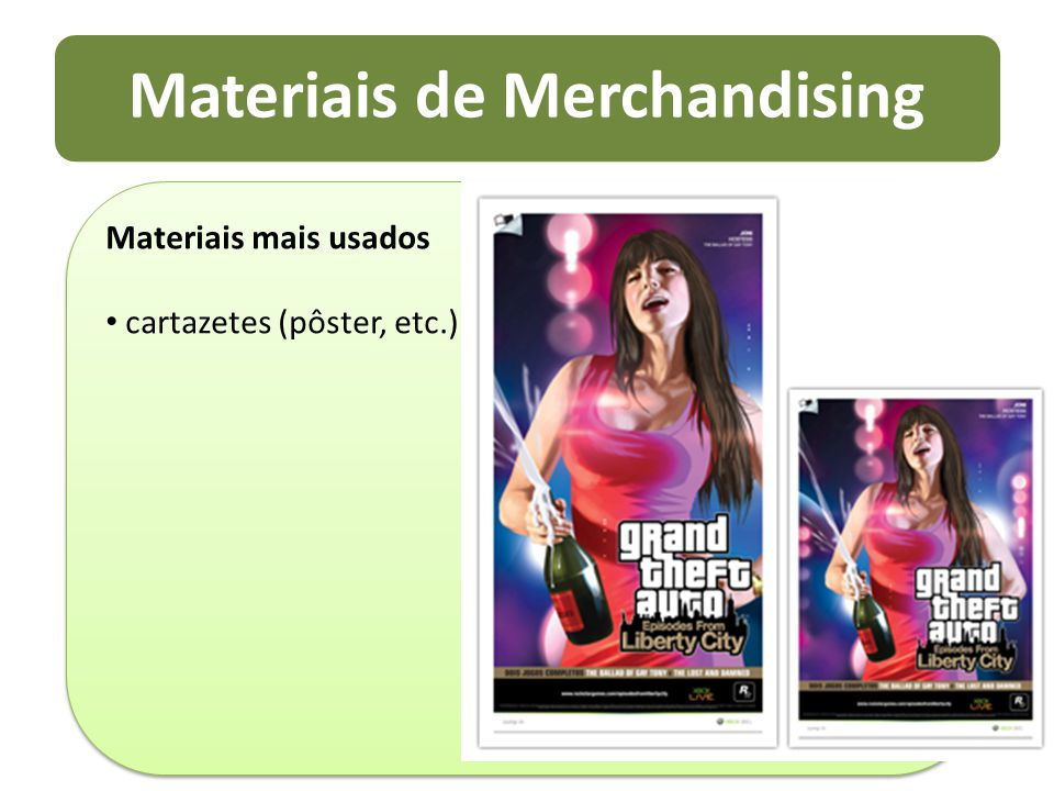 Materiais de Merchandising