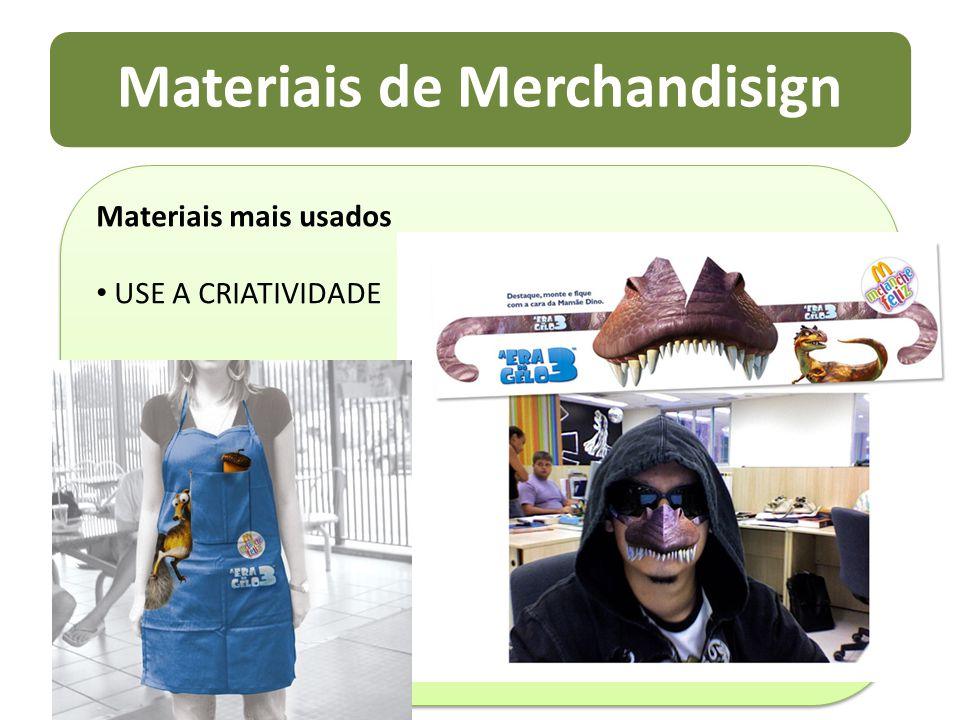 Materiais de Merchandisign