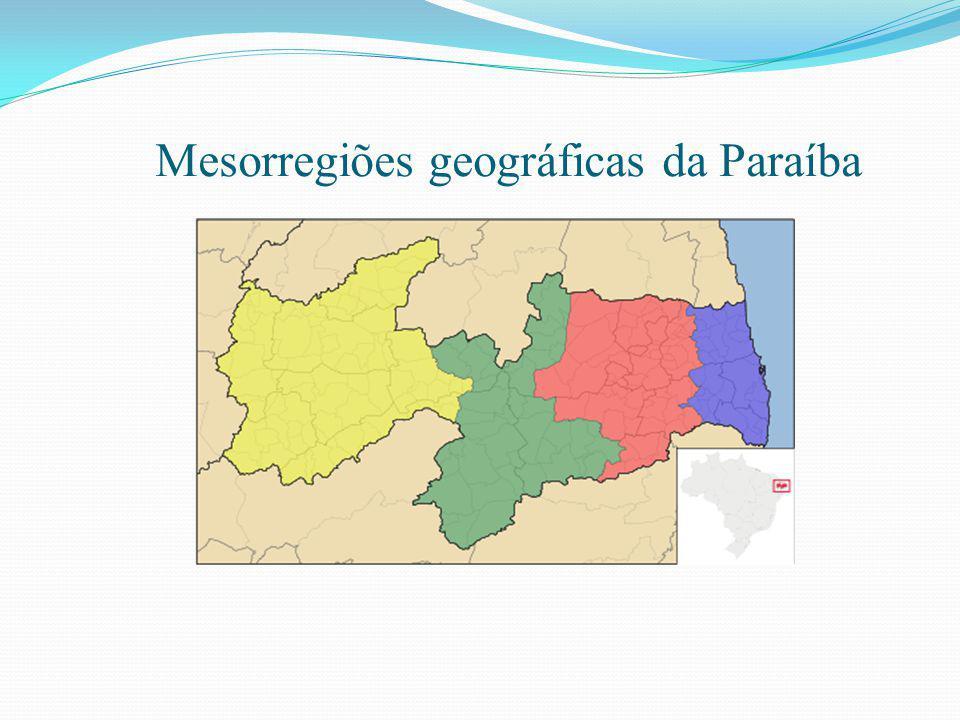 Mesorregiões geográficas da Paraíba