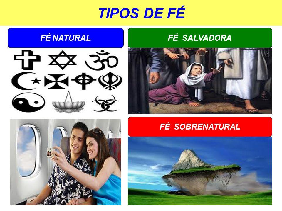 TIPOS DE FÉ FÉ NATURAL FÉ SALVADORA FÉ SOBRENATURAL