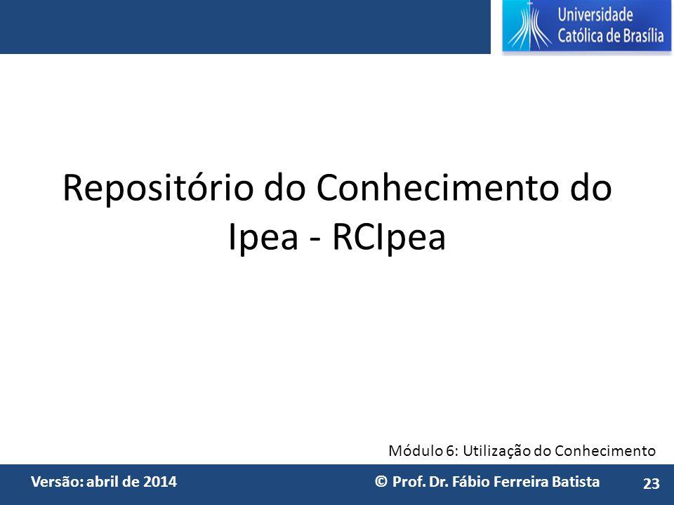Repositório do Conhecimento do Ipea - RCIpea