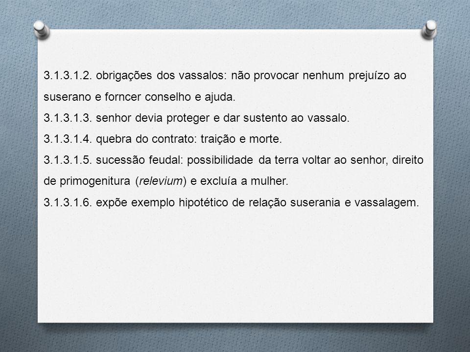3.1.3.1.2. obrigações dos vassalos: não provocar nenhum prejuízo ao suserano e forncer conselho e ajuda.