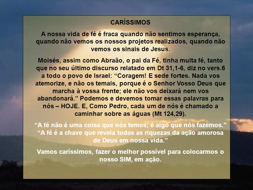 CARÍSSIMOS