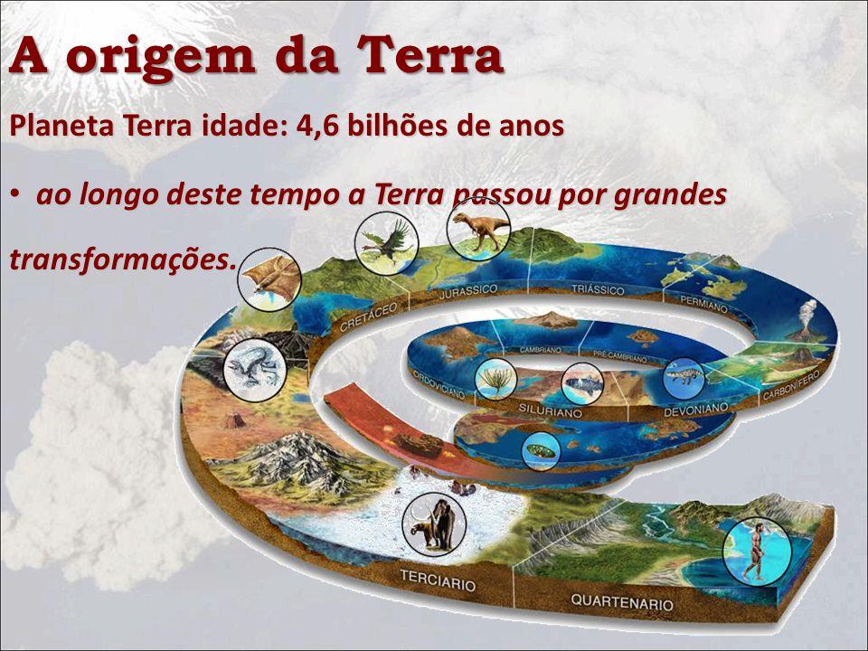 A origem da Terra Planeta Terra idade: 4,6 bilhões de anos