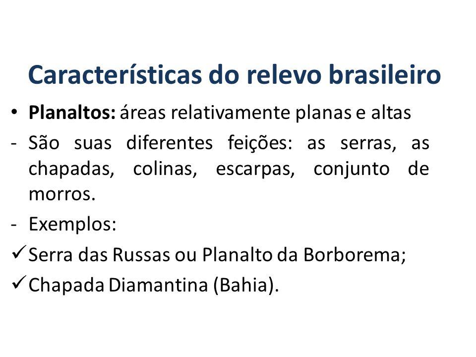 Características do relevo brasileiro