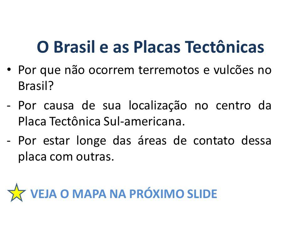 O Brasil e as Placas Tectônicas