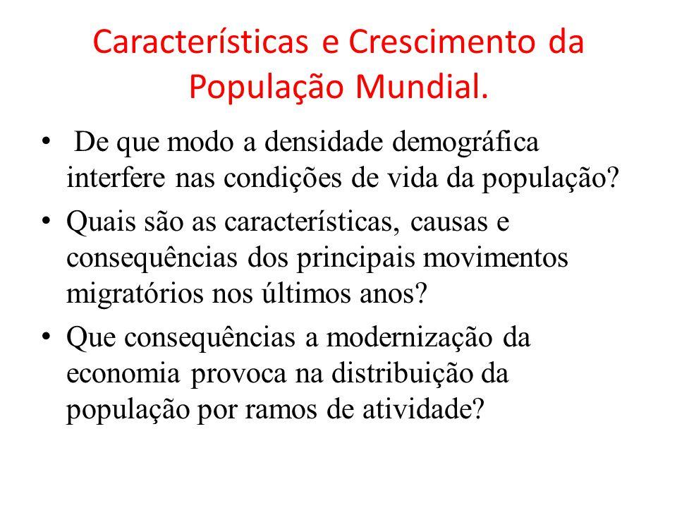 Características e Crescimento da População Mundial.