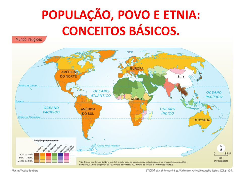 POPULAÇÃO, POVO E ETNIA: CONCEITOS BÁSICOS.