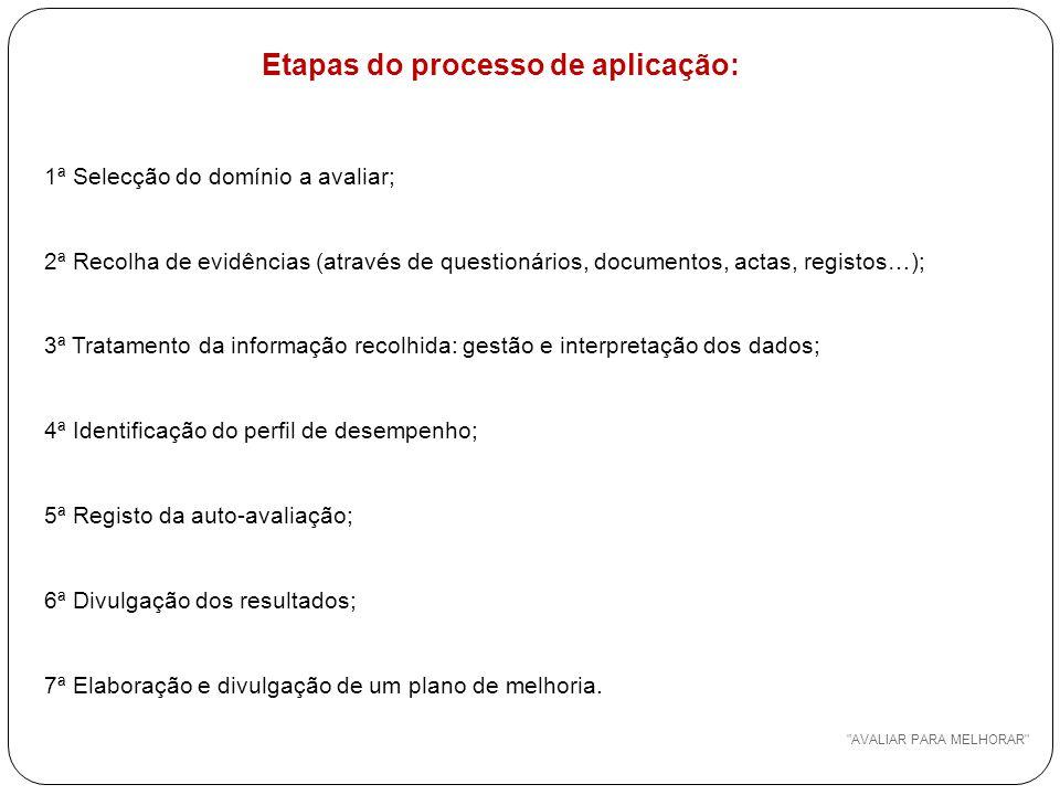 Etapas do processo de aplicação: