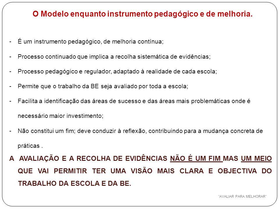 O Modelo enquanto instrumento pedagógico e de melhoria.