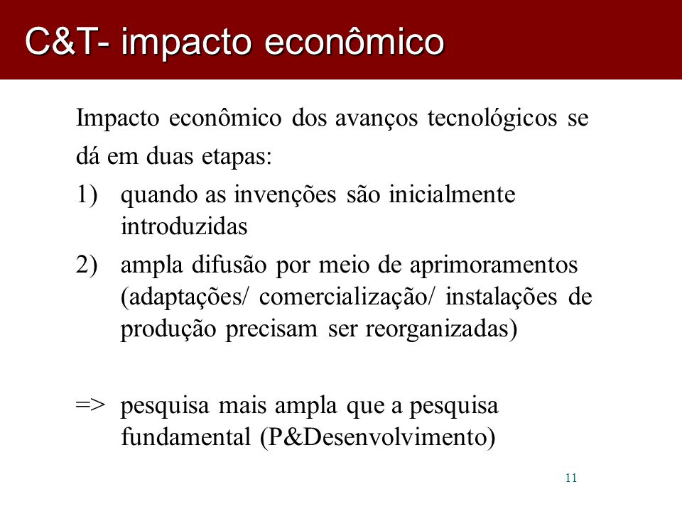 C&T- impacto econômico