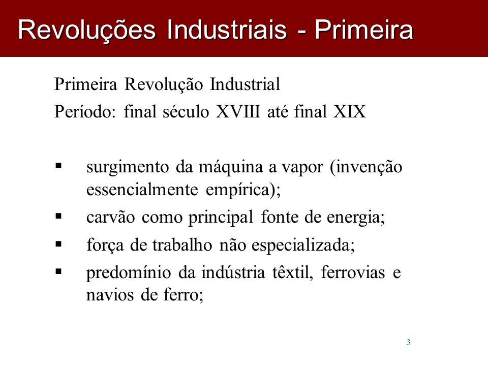 Revoluções Industriais - Primeira