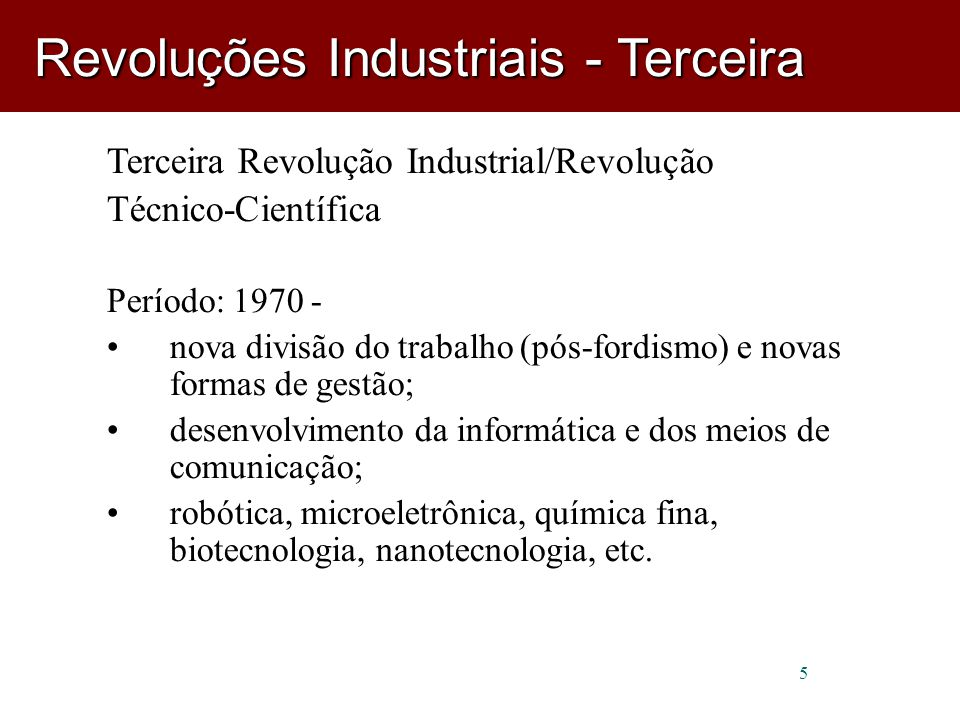 Revoluções Industriais - Terceira