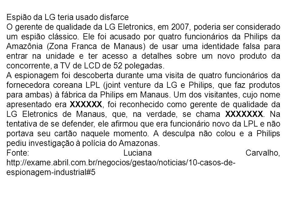Espião da LG teria usado disfarce