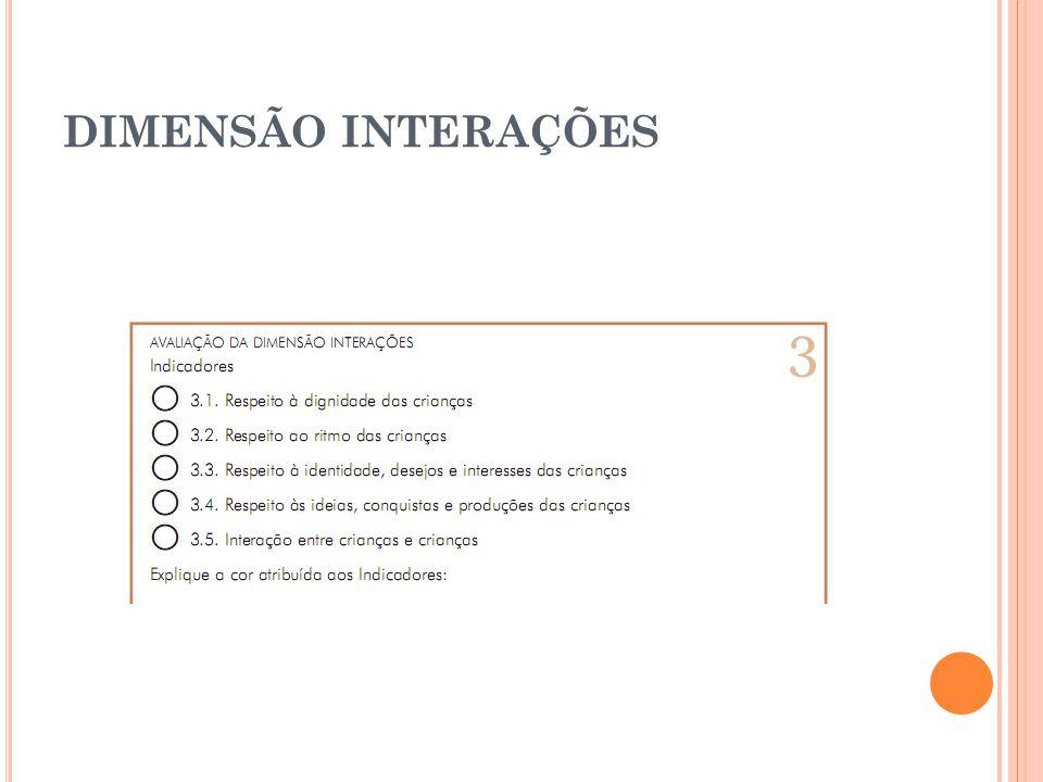DIMENSÃO INTERAÇÕES