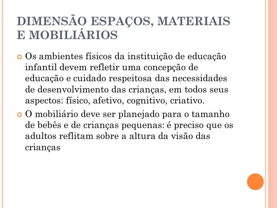 DIMENSÃO ESPAÇOS, MATERIAIS E MOBILIÁRIOS