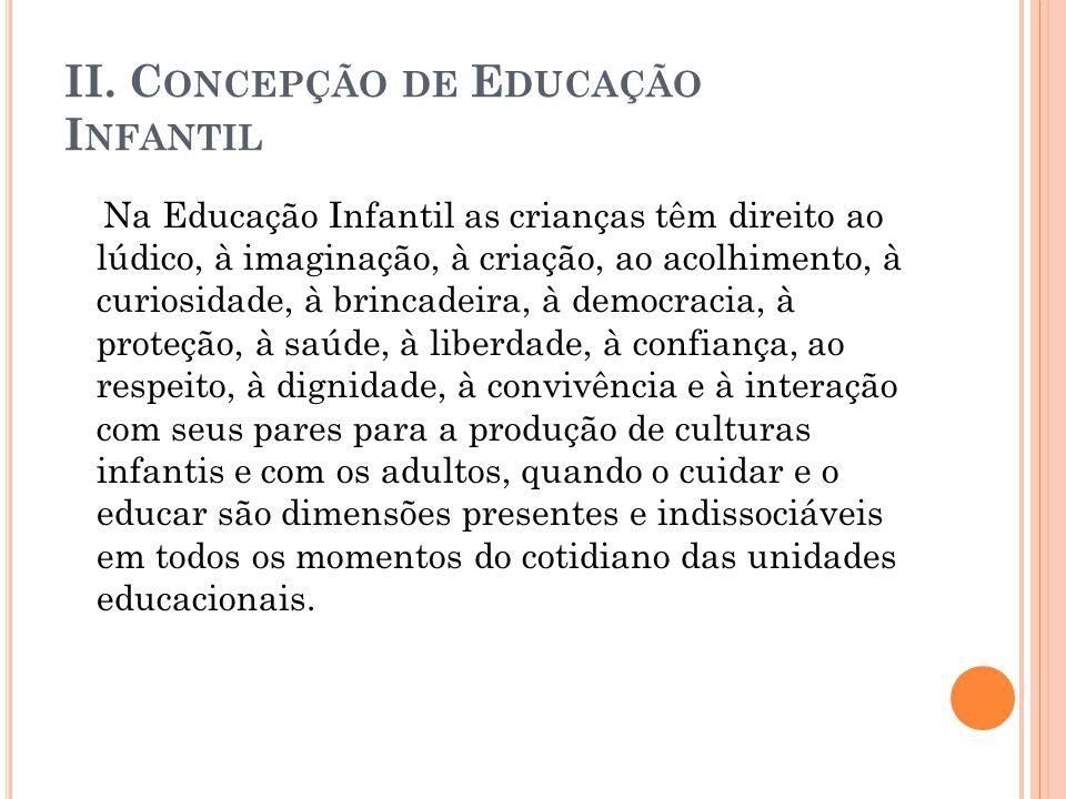 II. Concepção de Educação Infantil