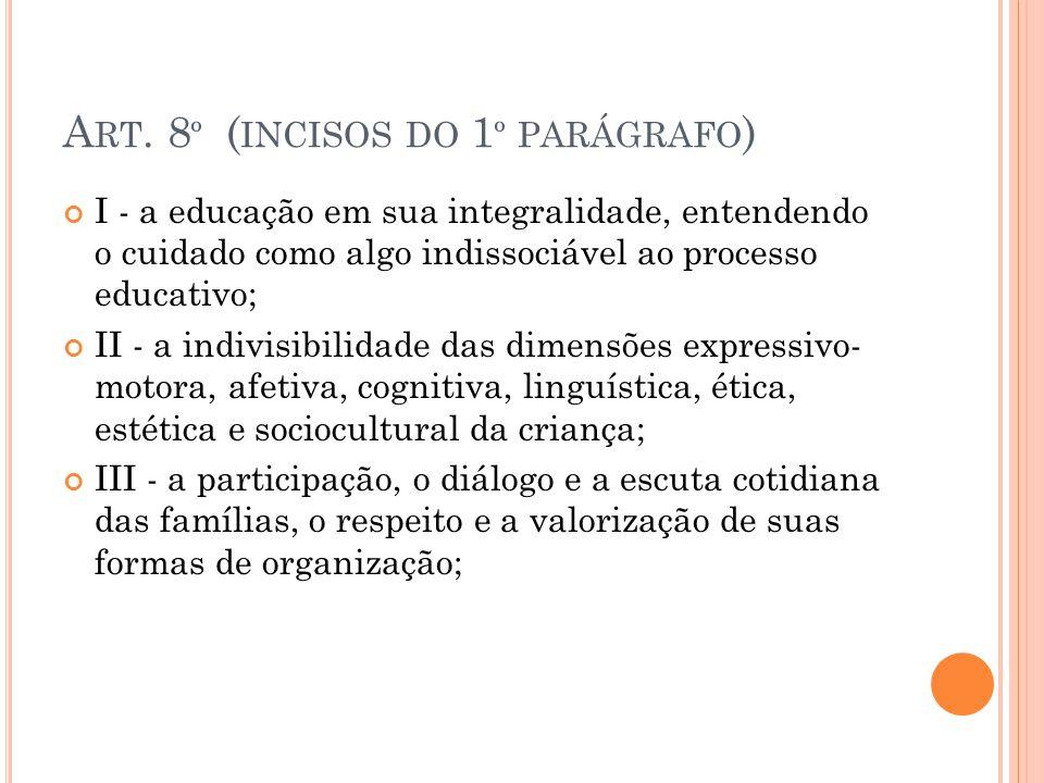 Art. 8º (incisos do 1º parágrafo)