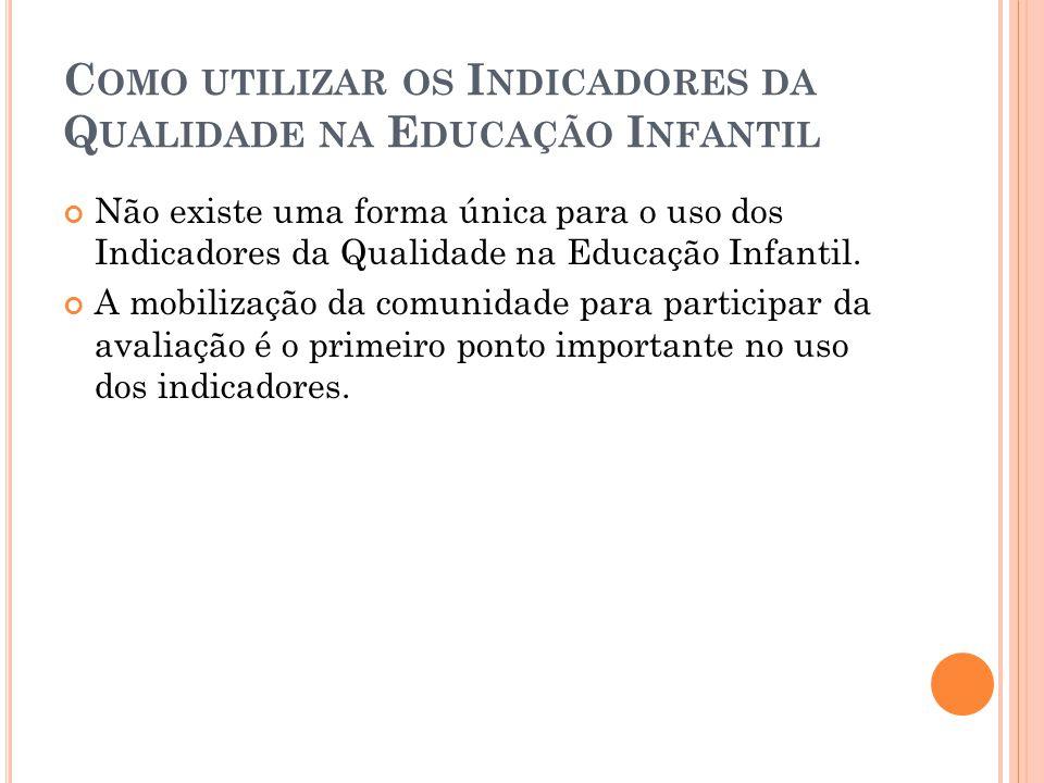 Como utilizar os Indicadores da Qualidade na Educação Infantil