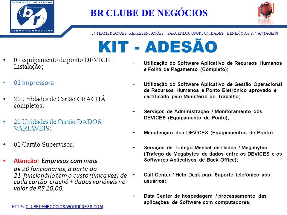 KIT - ADESÃO ID:1273 BR CLUBE DE NEGÓCIOS