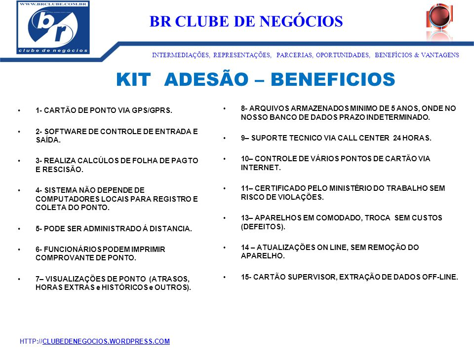 KIT ADESÃO – BENEFICIOS