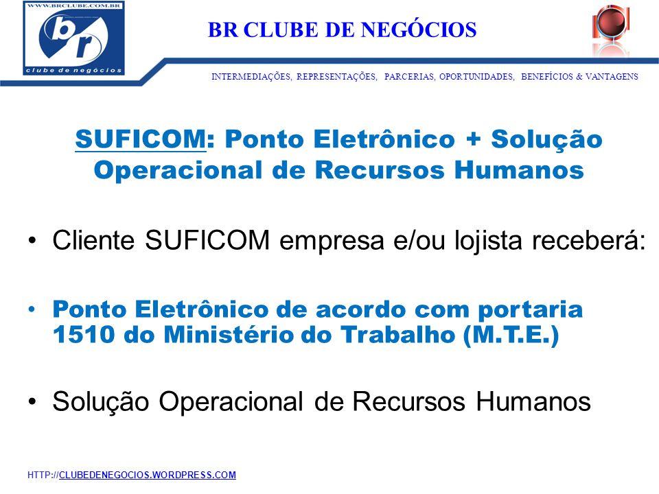 SUFICOM: Ponto Eletrônico + Solução Operacional de Recursos Humanos