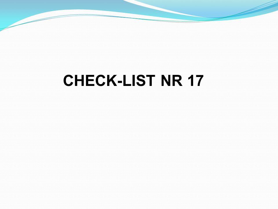 CHECK-LIST NR 17