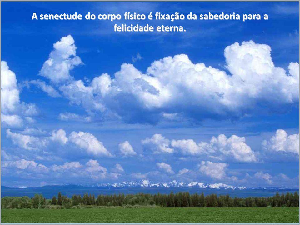 A senectude do corpo físico é fixação da sabedoria para a felicidade eterna.