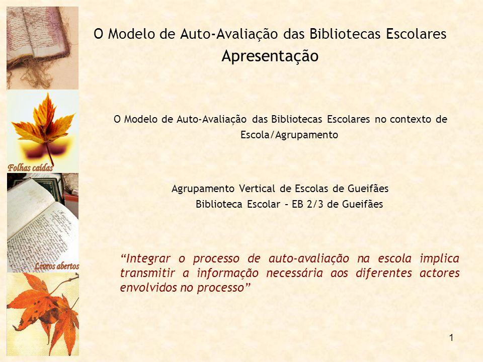O Modelo de Auto-Avaliação das Bibliotecas Escolares Apresentação