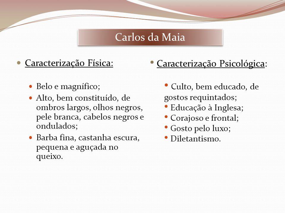 Carlos da Maia Caracterização Física: Caracterização Psicológica: