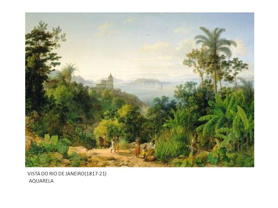 VISTA DO RIO DE JANEIRO(1817-21) AQUARELA
