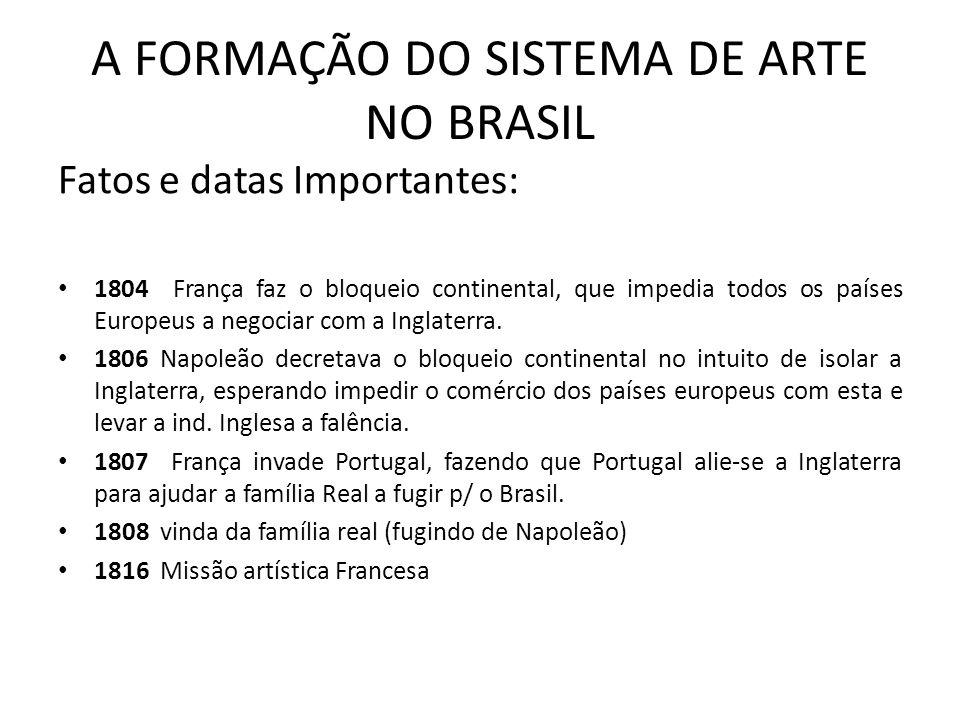 A FORMAÇÃO DO SISTEMA DE ARTE NO BRASIL
