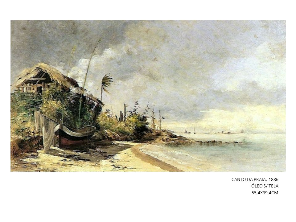 CANTO DA PRAIA, 1886 ÓLEO S/ TELA 55,4X99,4CM