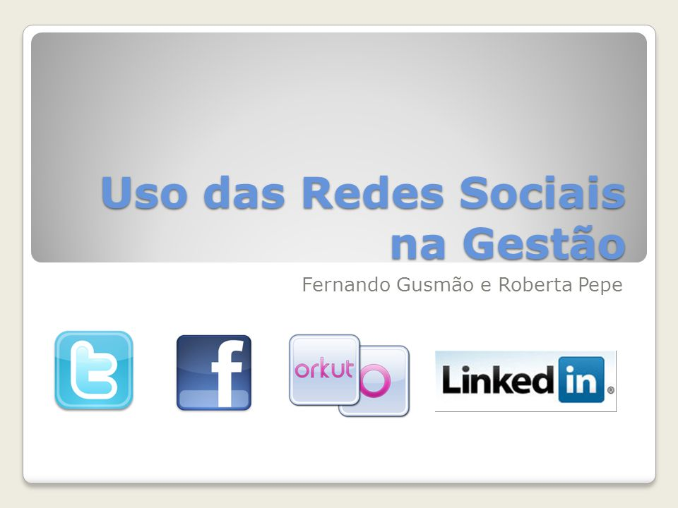 Uso das Redes Sociais na Gestão