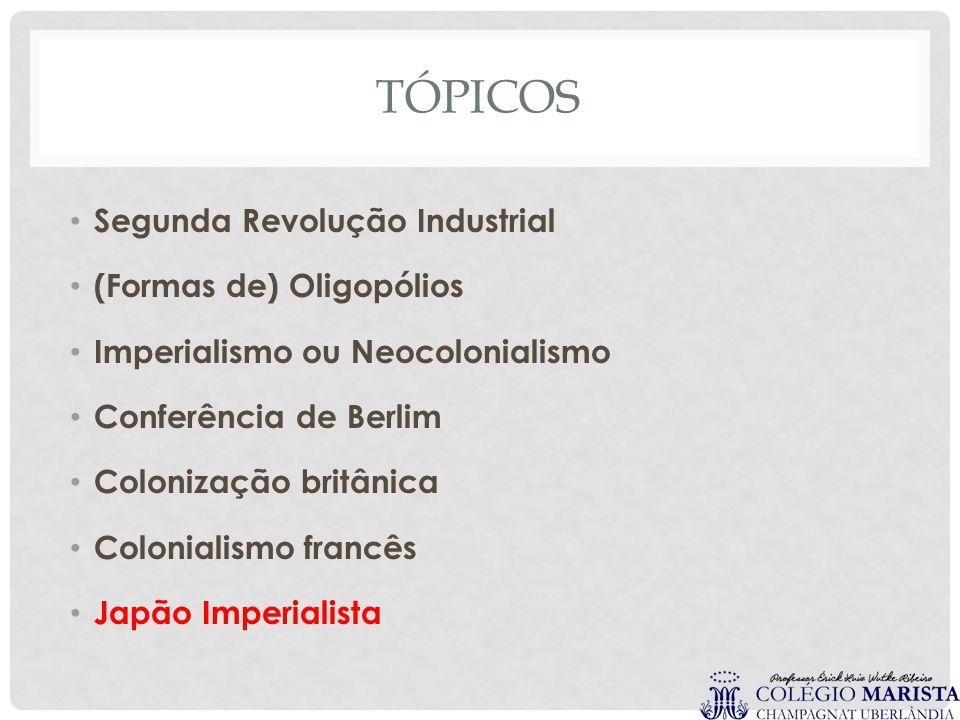 Tópicos Segunda Revolução Industrial (Formas de) Oligopólios