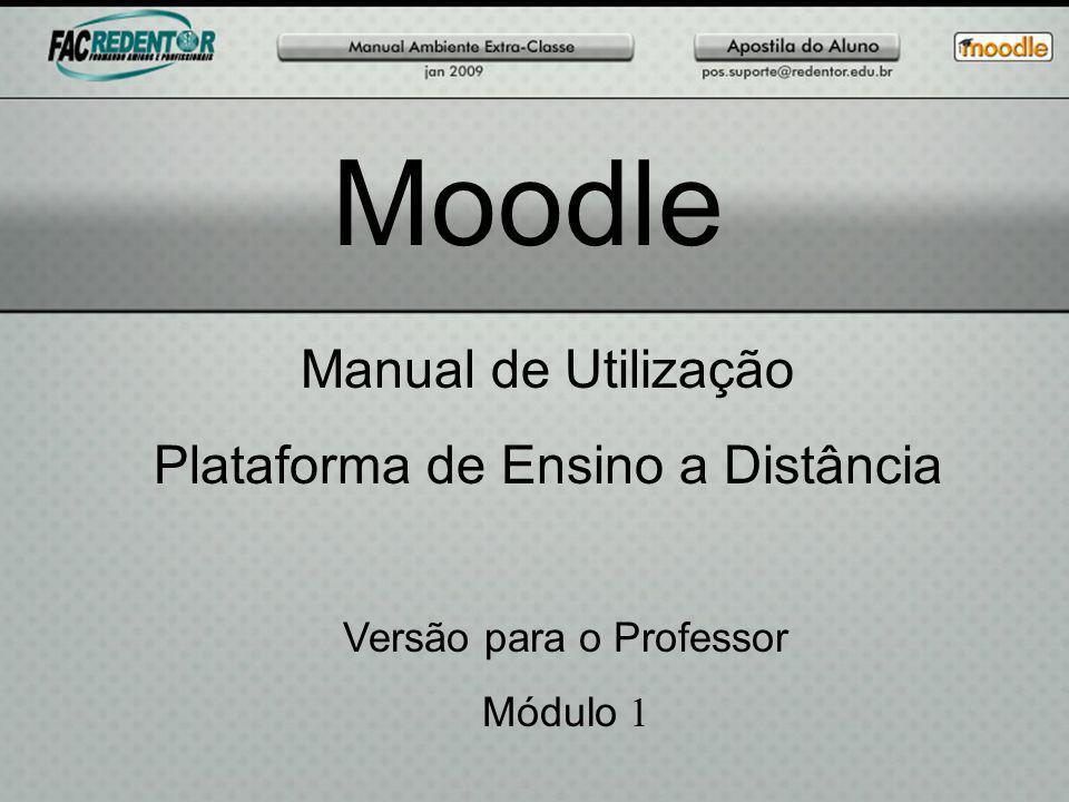 Moodle Manual de Utilização Plataforma de Ensino a Distância