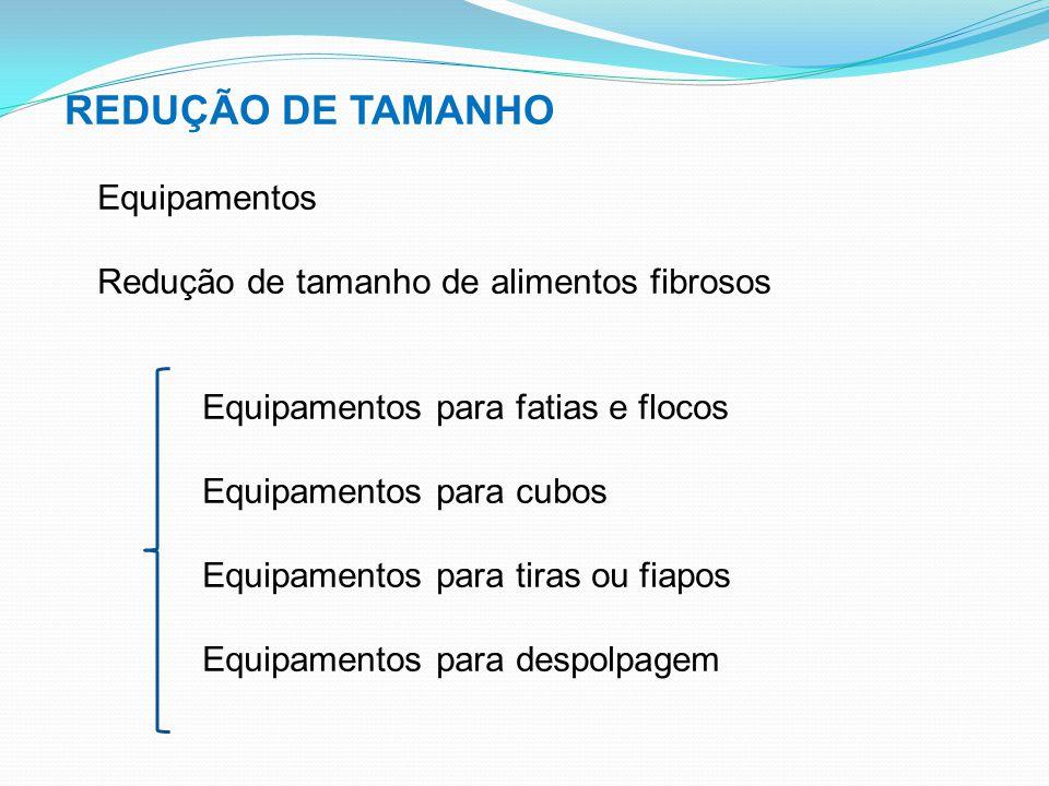 REDUÇÃO DE TAMANHO Equipamentos