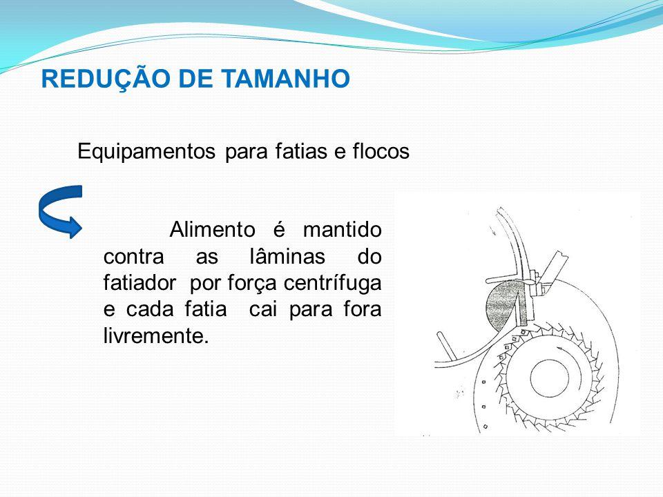 REDUÇÃO DE TAMANHO Equipamentos para fatias e flocos