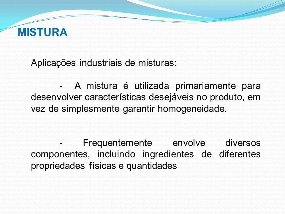 MISTURA Aplicações industriais de misturas: