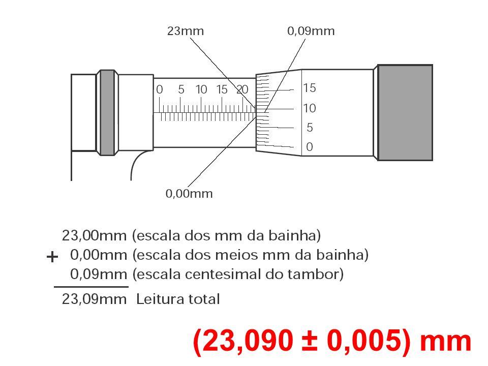 (23,090 ± 0,005) mm