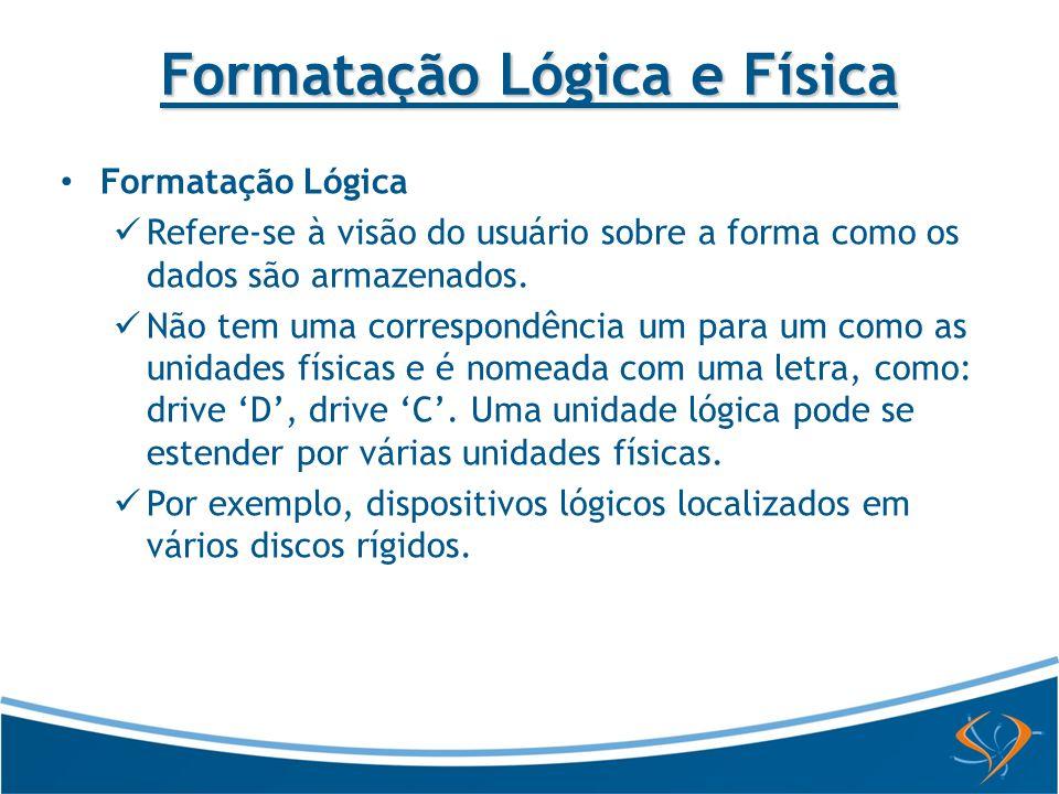 Formatação Lógica e Física