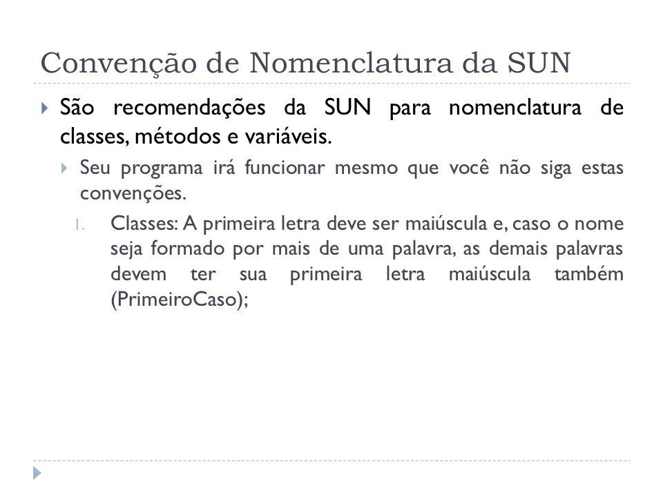 Convenção de Nomenclatura da SUN