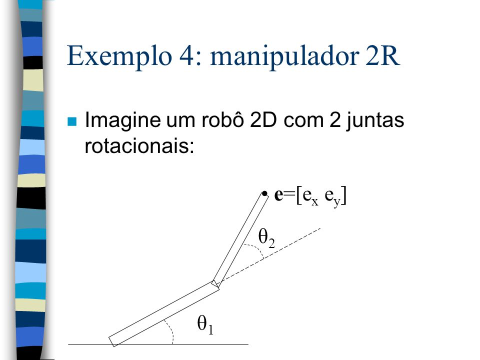 Exemplo 4: manipulador 2R