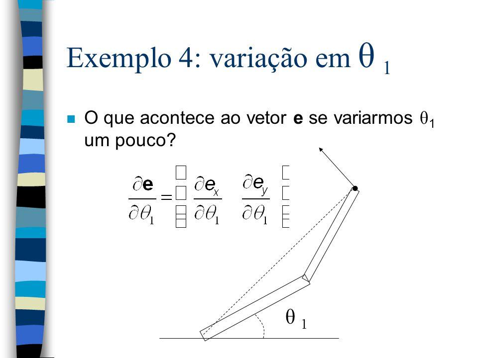 Exemplo 4: variação em θ 1 • θ 1
