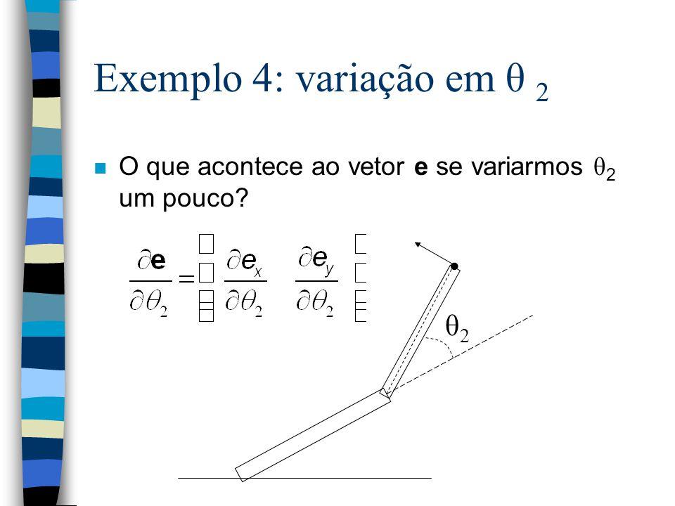 Exemplo 4: variação em θ 2 • θ2