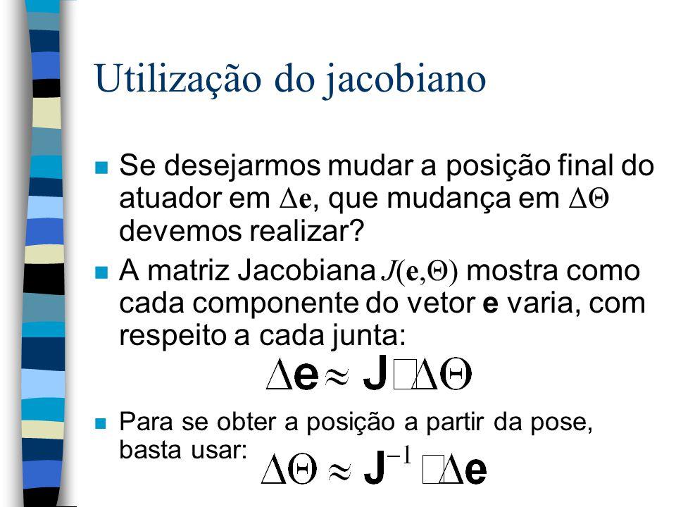 Utilização do jacobiano
