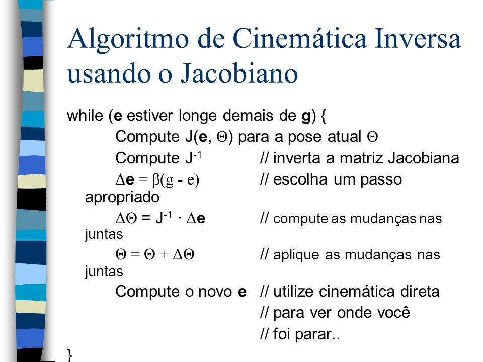 Algoritmo de Cinemática Inversa usando o Jacobiano