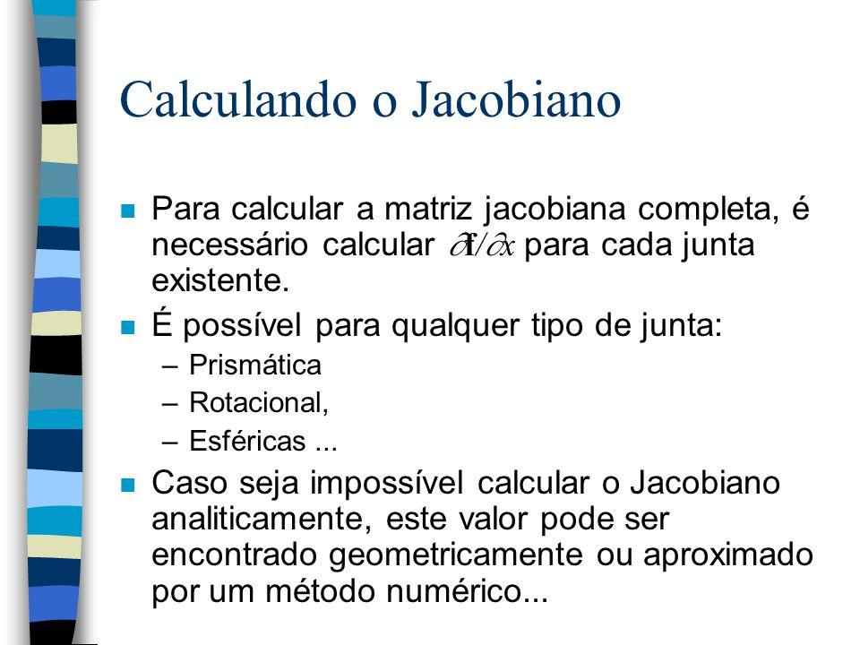 Calculando o Jacobiano