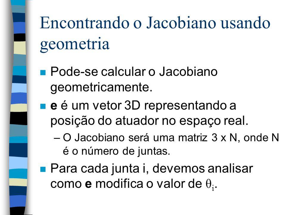 Encontrando o Jacobiano usando geometria