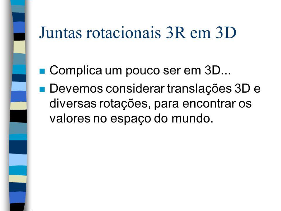 Juntas rotacionais 3R em 3D